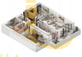 Romania,2 Bedrooms Bedrooms,3 Rooms Rooms,1 BathroomBathrooms,Apartament 3 camere,4,1824